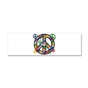 Wall Vinyl Sticker Peace Symbol Sign Dripping Paint