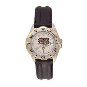 76ers All Star Ladies Black Leather Strap Watch