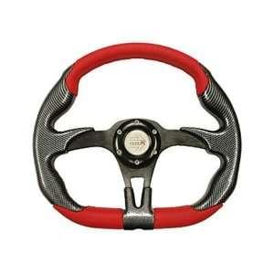 Polaris RZR/Ranger Steering Wheel (Red/Black 1339) Automotive