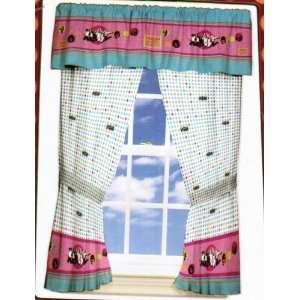 2 Window Curtain Panels Disney High School Musical HSM