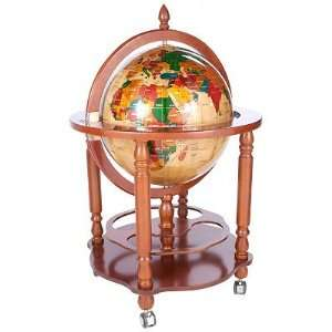 Kalifano 20 Columbus Globe w/ Four Leg Wood Bar Stand: Home & Kitchen