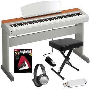 Yamaha P 155S Digital Piano HOME BUNDLE w/ Furniture Stand