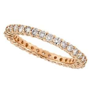 14K Yellow Gold Diamond Wedding Anniversary Eternity Band Ring
