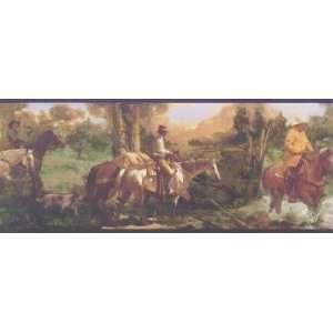 Horse Trail Wallpaper Border