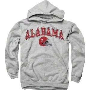 Alabama Crimson Tide Youth Grey Football Helmet Hooded Sweatshirt