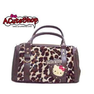 Sanrio Hello Kitty Leopard Print Handbag Bag Beauty