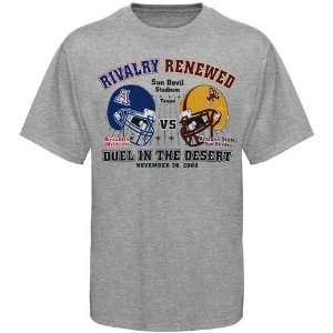 Arizona State Sun Devils Duel in the Desert Ash 2009 Game Day T shirt
