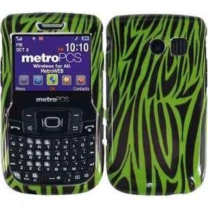 Neongreen Zebra Hard Case Cover for Straight Talk Samsung