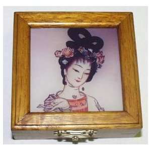 Lovely Lady ~ Reverse Painted Jewelry Box