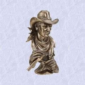 Wild western outlaw statue home garden rebel sculpture