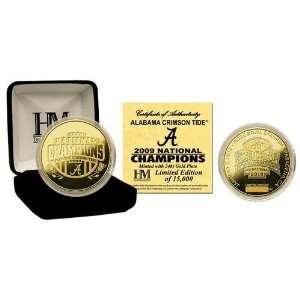 Alabama Crimson Tide 24KT Gold BCS National Champions Commemorative