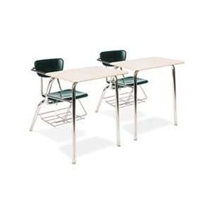3400 Series Chair Desk, 22 3/4w x 35 3/4d x 29 1/4h, Sandstone/Forest