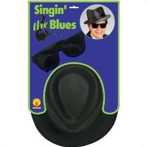 Singing the Blues Child Hat and Glasses: Toys & Games