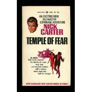 Temple of Fear Nick Carter Books