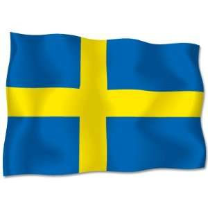 Sweden Swedish Sverige Flag car bumper sticker decal 6 Automotive
