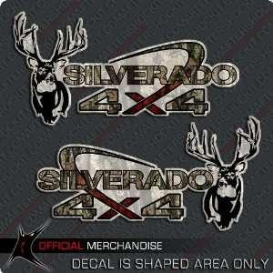 Silverado 4x4 Whitetail Deer Truck Sticker Decal Camouflage Camo