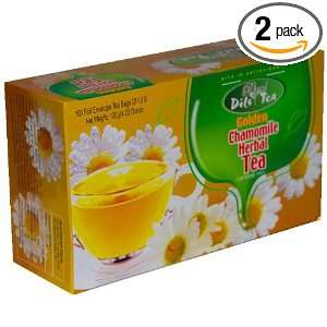 Dils Royal Tea Golden Chamomile Herbal Tea, 100 Count Tea Bags in
