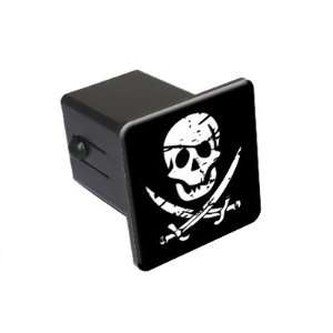 Pirate Skull Crossed Swords   2 Tow Trailer Hitch Cover