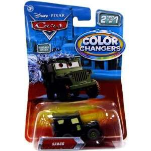 Color Changers SARGE Disney / Pixar CARS 2 Paint Jobs In 1 Vehicle (1