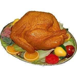 Fake Turkey on Metal Tray Home & Kitchen