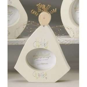 Pack of 4 Angel Blessings Chubby Cheeks Wood Picture Frames 9.5