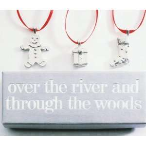 Over The River & Through The Woods Christmas Ornament Set