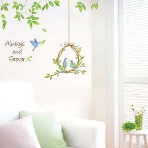 Decor Removable Decal Sticker   Love Birds Under the Green Vine Baby