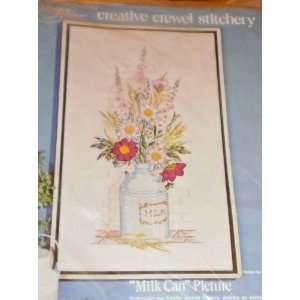 com Creative Crewel Stitchery   Milk Can   Kit# 0826 Everything Else