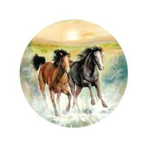 Horsing Around Round Jigsaw Puzzle 500pc  Toys & Games
