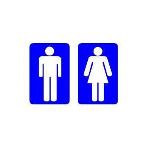 Restroom Decals   ADA Mens Room, Womens Room Vinyl Decals