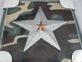 Borders Camo Army Camouflage Silver Star Wall Art Decor
