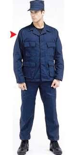 Navy Blue BDU Military Tactical Camo Army Uniform Shirt
