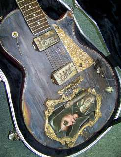 Kat VonD Guitar Tattoo High Voltage Hollywood, Cara Guitars Hot Rod