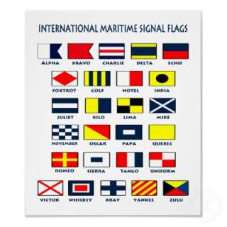 your ship or boat with this fun Maritime Flags International Signs