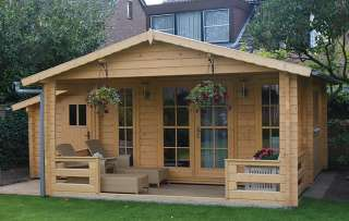Erke 45mm Log Cabin 5.85x3.3m Storage shed