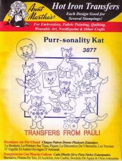 Purr sonality Cat Aunt Marthas Cross Stitch Transfer