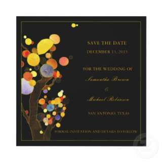 Whimsical Trees Save the Date Wedding Invitations from Zazzle