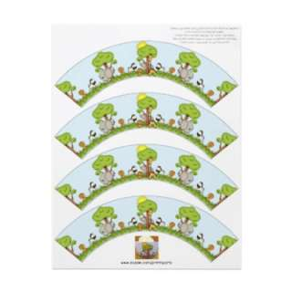 cupcake wrapper designed for a child that loves jungle animals. The