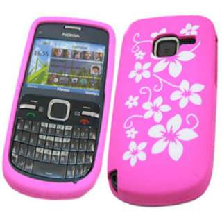 Nokia C3 Silicone Case   Pink Flowers