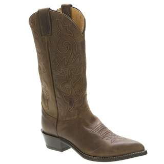 MENS JUSTIN 2252 BAY APACHE LEATHER ROPER COWBOY WESTERN BOOTS 10.5 D