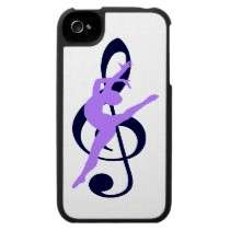 Music modern art dancer iphone 4 cases by customiphoneipadcase