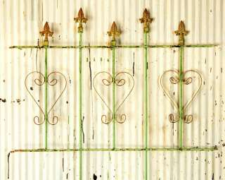 Iron Decorative Heart Interlocking Fence Garden Border Fencing