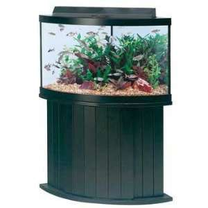 54 Gallon Corner Tank Cabinet Stand Black 28 Inches High