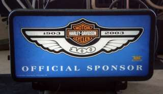 Miller Lite Harley Davidson 100th Anniversary Neon Beer Sign Light