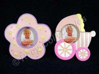 Nursery Picture Frames Baby Girl Flower Stroller Gift