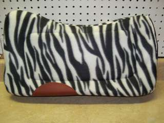 Zebra Fleece Saddle Pad Pony Barrel Racing Mini Horse 22 x 22