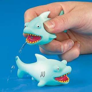 12 SHARK SQUIRTERS Dozen Ocean Bath Toys Fish Luau Party Favors