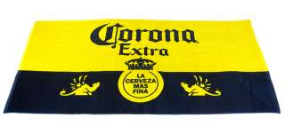 Blue / Yellow Corona Extra Crown Logo Beach Towel