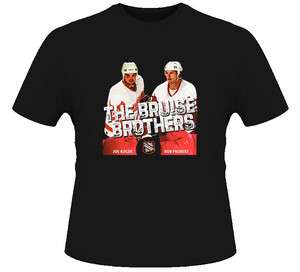 Bruise Brothers Bob Probert And Joey Kocur Hockey T Shirt