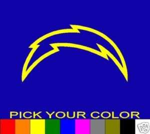SAN DIEGO CHARGERS 6 BOLT DECAL STICKER VINYL NFL